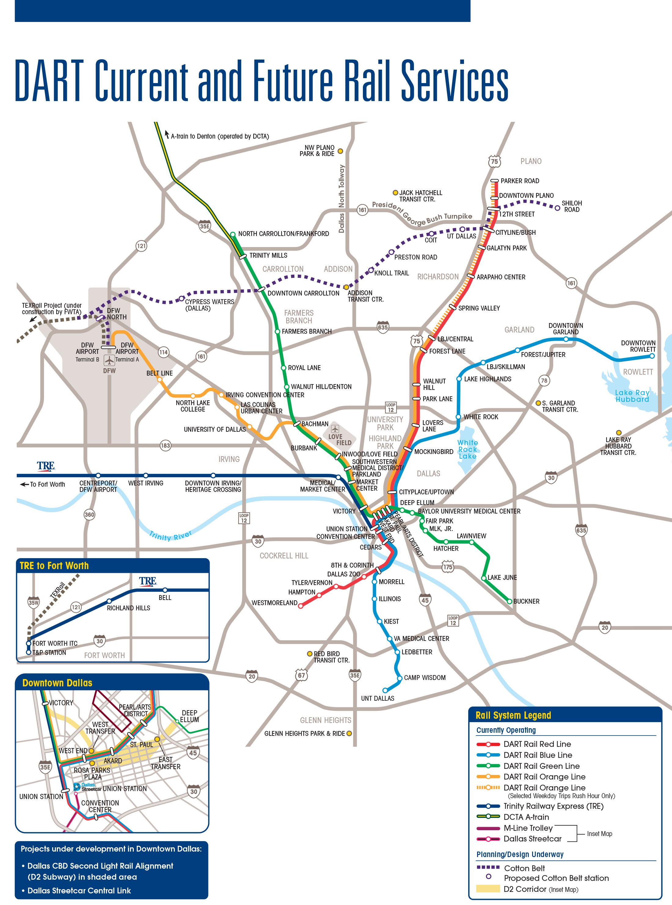 View A Printable Pdf Of The Current And Future Services Map Dart Transit System Plan Dart Rail Expansion Information Dart Rail Expansion Maps