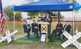 Image: Mark Enoch, the Rowlett representative on the DART Board of Directors, speaks at the Groundbreaking Ceremony