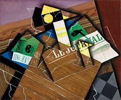 Juan Gris, Fantômas, 1915, oil on canvas, National Gallery of Art, Washington, Chester Dale Fund