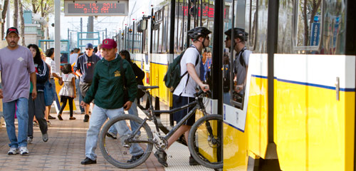 Bike on DART Rail