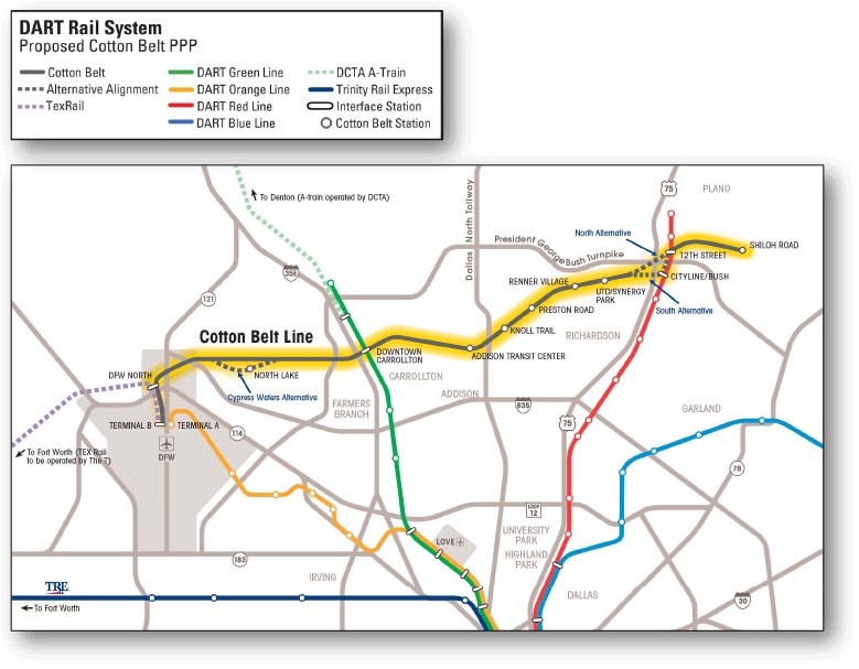 Proposed Cotton Belt PPP