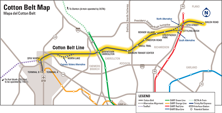 Cotton Belt Map