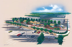 Image of Martin Luther King, Jr. Blvd. Transit Center rendering