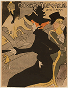 Henri de Toulouse-Lautrec, Le Divan Japonais, 1893, color lithograph, Dallas Museum of Art, gift of Leon A. Harris, Jr. 1954.139