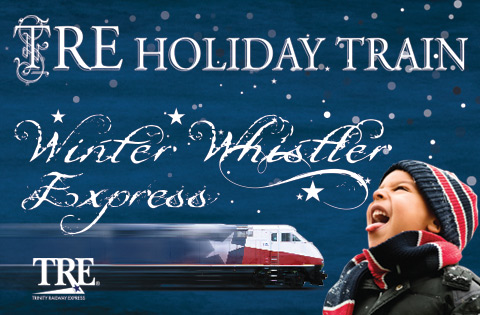 Check Out the TRE Winter Whistler, featuring Santa and trainloads of holiday fun! It all starts Friday, Nov. 29 and runs every Saturday through Dec. 21 on select trains.