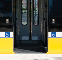 Low-floor doors open flush with the station platform.