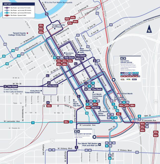 Downtown Fort Worth Map